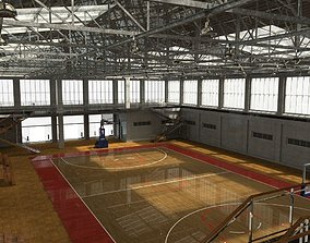 3D asset school basketball court