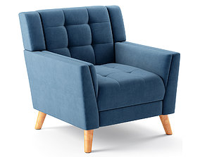 3D model Alisa Mid Century Modern Armchair
