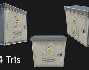 3D model game-ready Utility Box