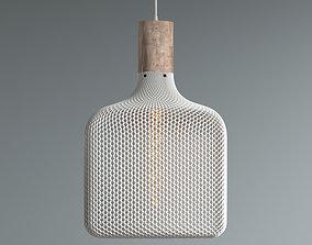 FLAT CUBE HONEYCOMB MESH LAMP 3D printable model