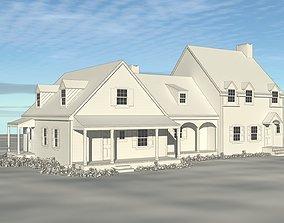 3D print model Colonial Revival Farm House