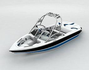 Sport Ski Motor Boat 3D asset