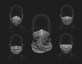 3D print model Face Mask Base Mesh Set