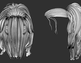Stylized hair 3D print model