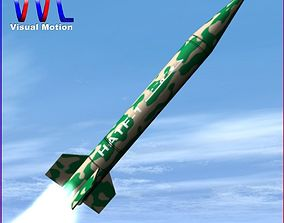 Hatf-I Ballitic Missile 3D model
