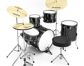 Musical Drum Set 3D