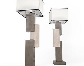 Floor lamp Lingots 3D model