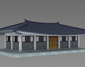3D model Hanok korean style house