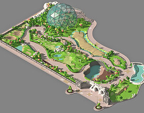 3D model Low poly zoo