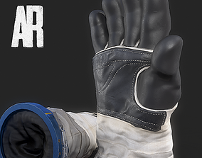 3D model game-ready Astronauts Gloves
