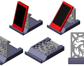 3D print model stand Phone Stand with Oriental Mark