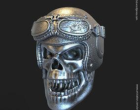 3D print model Biker helmet skull vol4 Pendant