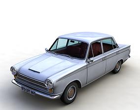 FOR D CORTINA GT MK1 1966 4 DOORS 3D model