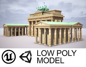 Brandenburg Gate 3D asset low-poly