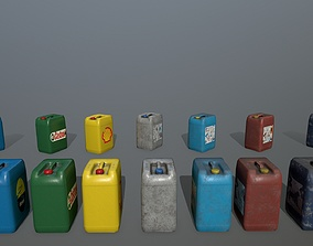 3D model low-poly Jerry Can