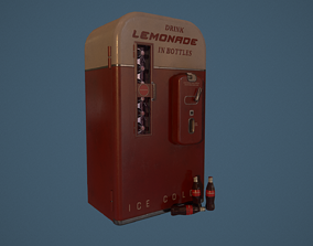 coca-cola Fridge 3D