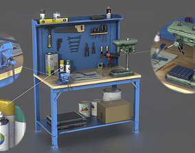 3D model low-poly PBR WORKBENCH
