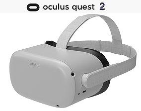 3D model Oculus Quest 2 VR Headset