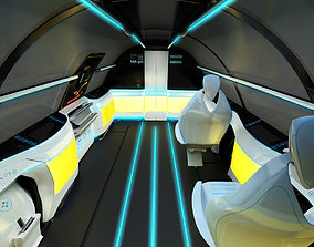 3D Interior airplane supersonic business class