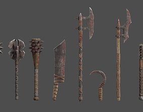 3D asset Orc Weapons