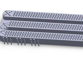 Cribbage Board 3D print model