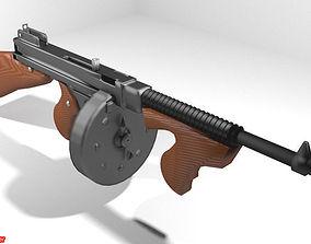 Submachine Gun - Thompson M1921 3D model