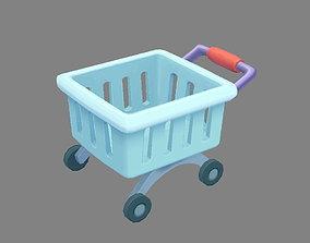 Cartoon shopping cart - B 3D asset