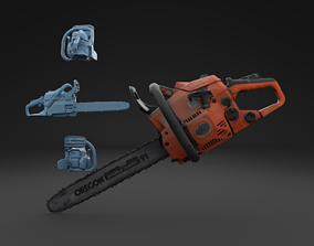 3D model Scanned Chainsaw HIGH POLY