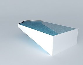 Swimming Pool With Steps 3D model