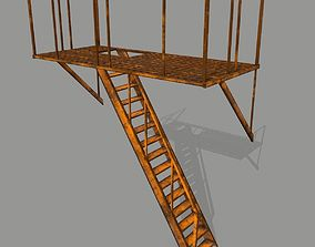 3D asset Fire Escape