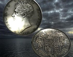 3D asset George 4 coin