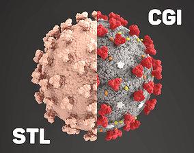 corona virus cgi an 3d print