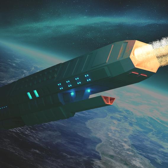 a spaceship space