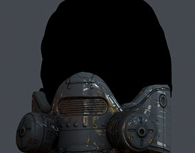low-poly Gas mask helmet 3d model scifi Low-poly Low-poly