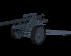 SFH18 Cannon LowPoly isometric 3D asset