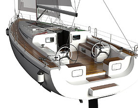 Sailing Yacht 3D model dock