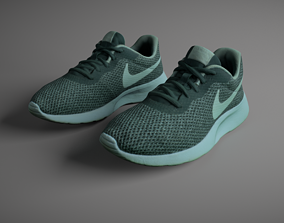 Pair of Sneakers 3D asset low-poly