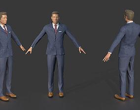 Men Suit 3D model game-ready
