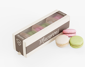 Macarons Box Pack 3D asset