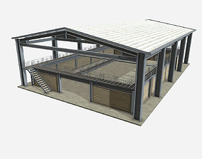 Low Poly PBR Farm Warehouse 3D asset