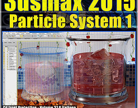 3ds max 2015 Particle System 1 vol 37 cd front animated