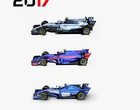 Formula 2017 cars pack 3 3D model