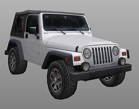 97-06 Jeep Wrangler TJ lowpoly 3d model game-ready
