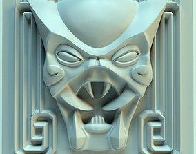 Wall tile head of predator 3D print model