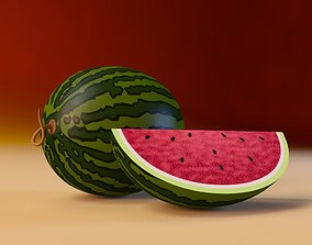 3D model Cartoon Watermelon