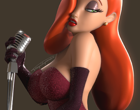 Jessica Rabbit Rigged 3D model