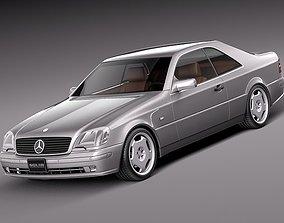 3D model Mercedes-Benz CL500 C140 1993-1998