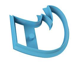 3D printable model COOKIE CUTTER RHINO
