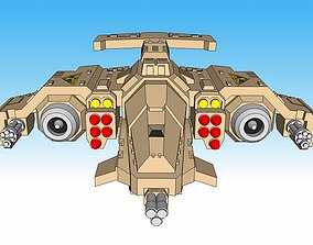 3D printable model 6mm and 8mm Hawkstorm Gunship