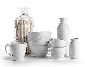 3D Bag of Pasta Mugs Bowls and Pitchers